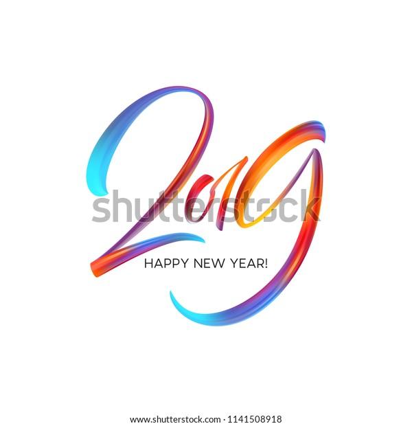 2019 Renkli Bir Firca Darbesi Yagi Stok Vektor Telifsiz 1141508918