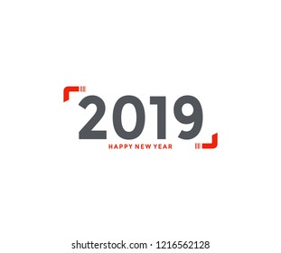2019 New Year Text Simply Trendy Design
