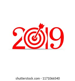 2019 New Year vector icon illustration isolated on white background