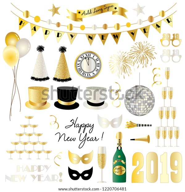 2019 new years eve clipart vector stock vector royalty free 1220706481 https www shutterstock com image vector 2019 new years eve clipart vector 1220706481
