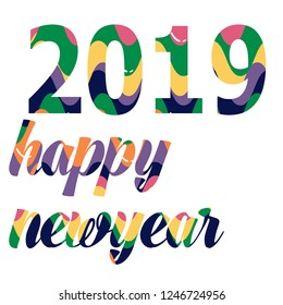 2019  plastic color happy newyear