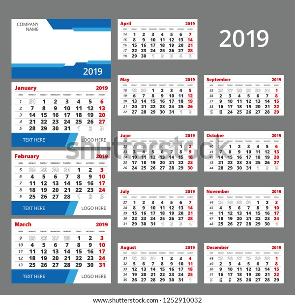 Three Month Calendar Template from image.shutterstock.com