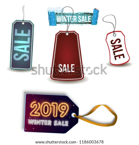 2019 winter sale Collection of cardboard sales labels. Can be used as price  tags. 4156132bf6e