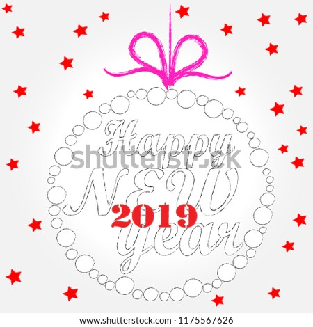 happy new yearnew year scene with christmas balss and decorationshappy