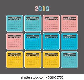 2020 Calendar Planner Design.