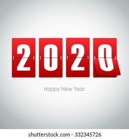 2020  greeting card. Vector illustration eps10