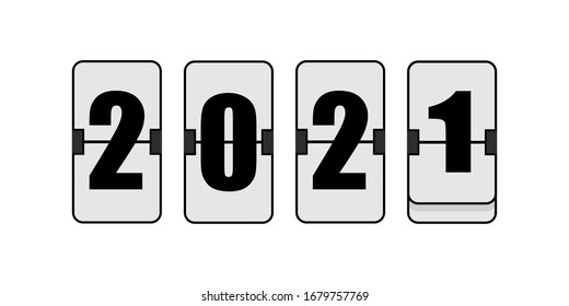 2020 icon. Countdown to new year. Vector illustration icon  abstract graphic design.
