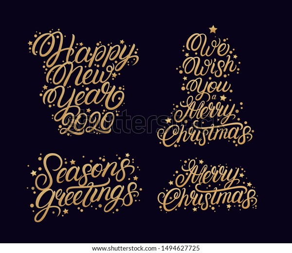 merry christmas happy new year stock vector royalty