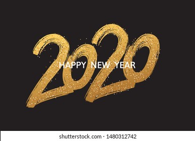 2020 New Year cart. 2020 New Year.
