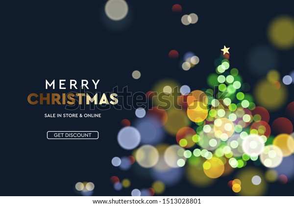 New 2020 Christmas Backdrops 2020 New Year Christmas Tree Sparkle Stock Vector (Royalty Free