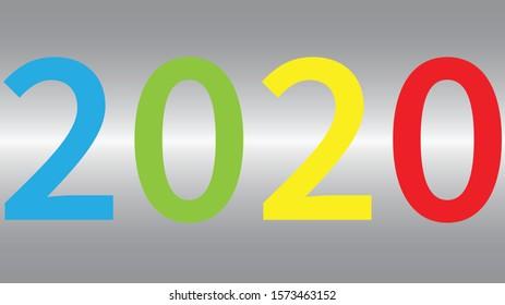 2020 NEW YEAR in Numbers RGB-Y impact calendar