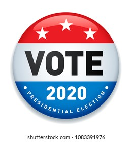 2020 United States of America Presidential Election Button Design - Vector EPS10