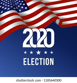 2020 United States of America Presidential Election  Design - Vector EPS10