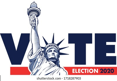 2020 United States Presidential Election - concept with Liberty Statue