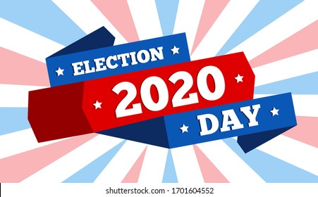 2020 USA election day  banner background design