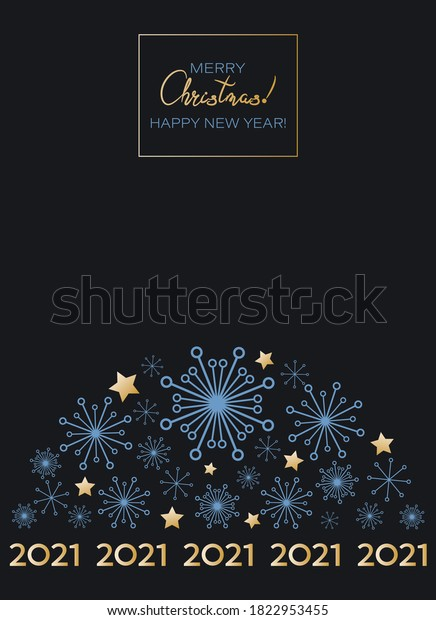 Christmas Wish List 2021-2021 2021 Christmas Greeting Card Happy New Stock Vector Royalty Free 1822953455