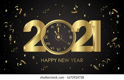 happy new year 2021 images stock photos vectors shutterstock https www shutterstock com image vector 2021 happy new years clock gold 1672924738