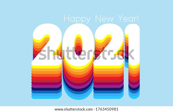 2021 New Year Abstract shiny color design element