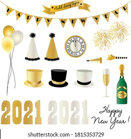 2021 new years eve clipart graphics