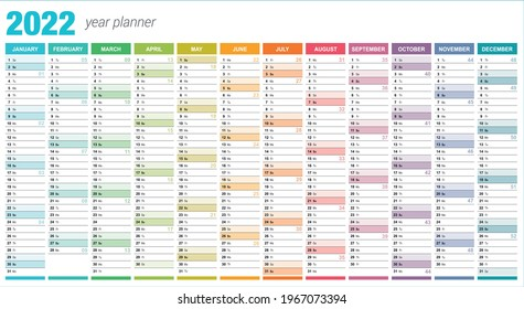 2022 Year Planner - Wall Planner