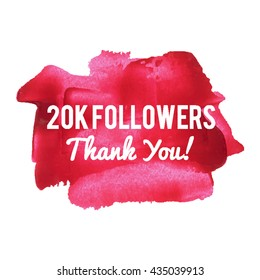 20K 20000 Followers Thank You card for social network friends image