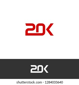 20K, 20000 Sign / Logo Template