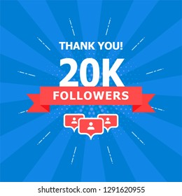 20K added folks, thank you. A combination of different objects is depicted on a blue background.
