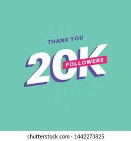 20k Followers Banner Social Media