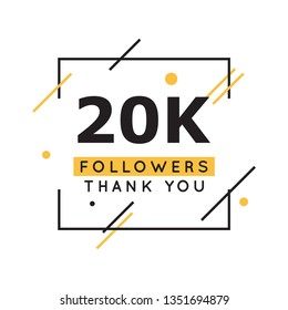 20k followers thank you design template