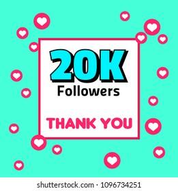 20K followers thank you tempate