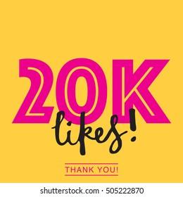 20K likes online social media thank you banner