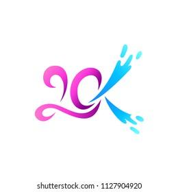 20k Logo, Anniversary Logo, Number 20 Logo