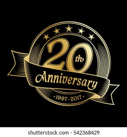 20th anniversary design template. Vector and illustration.
