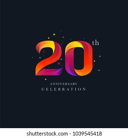 20th Anniversary Logo Design, Number 20 Icon Vector Template.