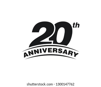 20th Years Anniversary Celebration Icon Vector Logo Design Template