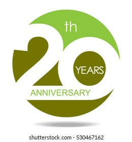 20th years anniversary and celebration  logo and sign,vector and illustration