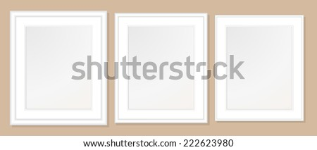 20 X 24 Double Mats Frame 16 X 20 Photo Stock Vector Royalty Free