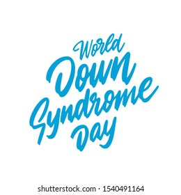 Of 21 March World Down Syndrome Day Background. Vector illustration.