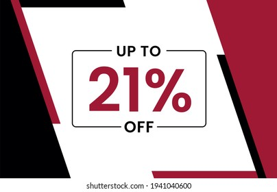 Up to 21% off banner, Upto 21% off, Discount offer, Banner Add, Special Offer add