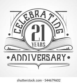 21 Years Anniversary Celebration Design.