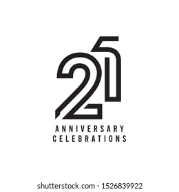 21 Years Anniversary Celebration Vector Template Design Illustration