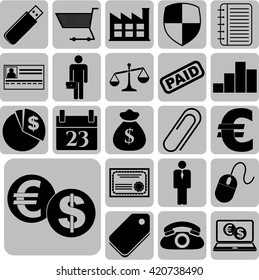 22 businessicon set. Universal and Standard Icons.