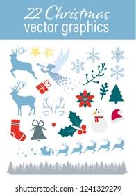 22 Christmas vector graphics
