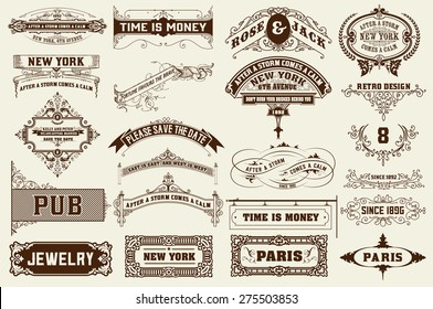 22 Labels and banners. Vector