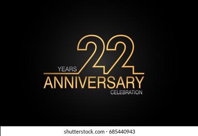 22 Anniversary Images, Stock Photos & Vectors   Shutterstock