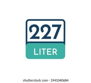 227 liters icon vector illustration