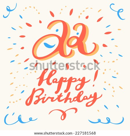 22th Happy Birthday Card