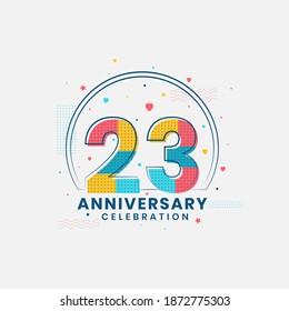 23 Anniversary celebration, Modern 23rd Anniversary design