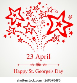 23 april. Happy St George Day. Vector Illustration