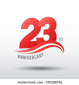 23 Years Anniversary Celebration Design